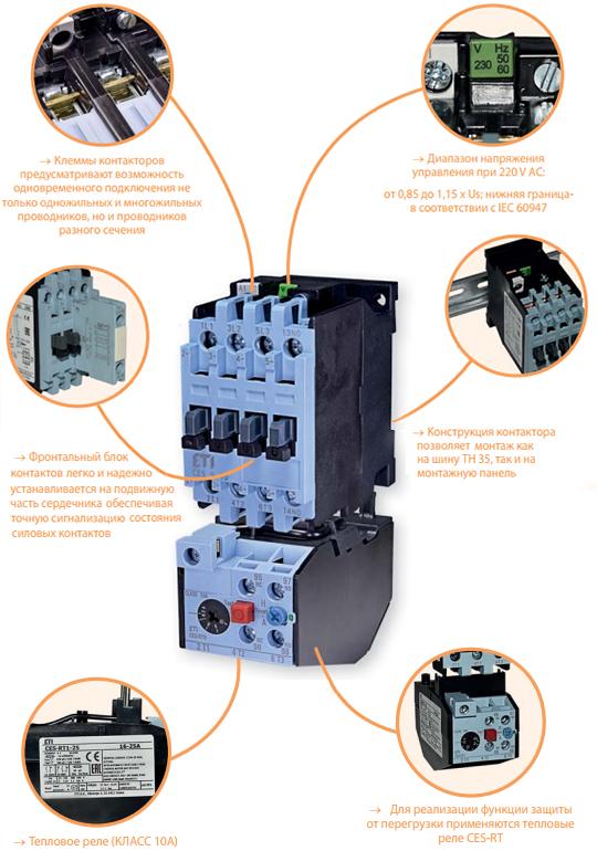 Особенности и характеристики силовых контакторов CES от ETI